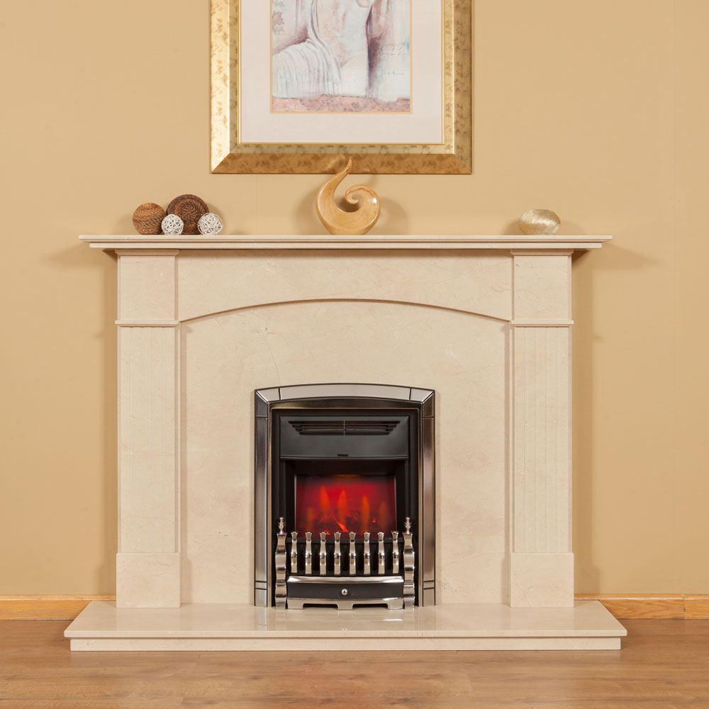Arch marble fireplace surround colin parker masonry for Marble for fireplace surround